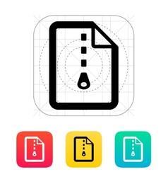 Archive file icon vector