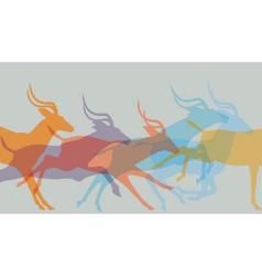 Herd running vector image