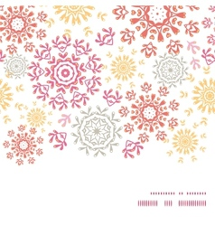 folk floral circles abstract horizontal vector image