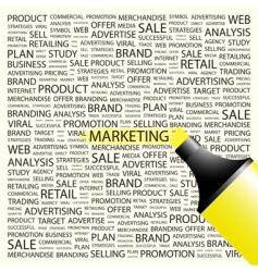 marketing vector image