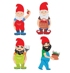 Gnome garden set vector
