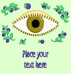 Blueberries and eye vector
