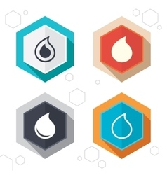 Water drop icons tear or oil symbols vector