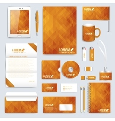 Golden set layout of corporate identity vector