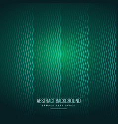 abstract wavy lines green background vector image vector image