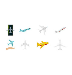 Airbus icon set flat style vector