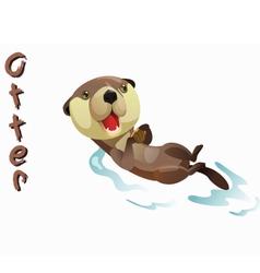 Animal otter vector