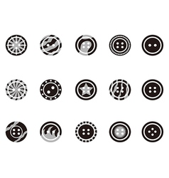 Black Clothing Button icons vector image vector image