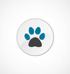 cat footprint icon 2 colored vector image vector image