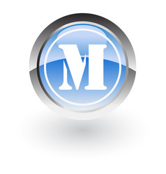 circle letter m icon logo vector image vector image