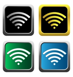Colorful wifi icons for business or commercial use vector image