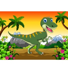 Cute dinosaur cartoon for your design vector image