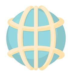 Earth icon cartoon style vector