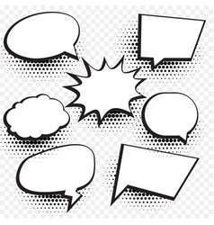 Empty comic chat bubble and element background vector