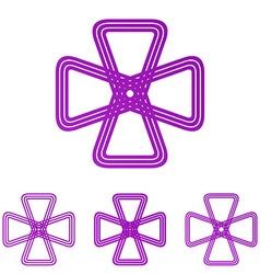 Engineering logo design set vector
