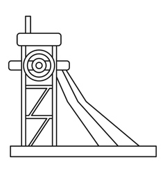 Equipment for washing rocks icon outline style vector