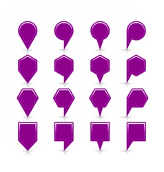 Flat purple color map pin sign location icon vector