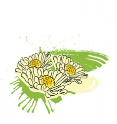 flower paint vector image vector image