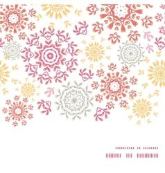 Folk floral circles abstract horizontal vector