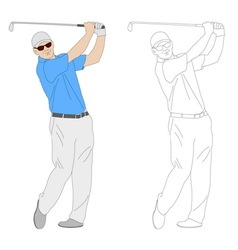 Golf player 1 vector