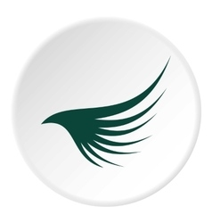 Green wing icon flat style vector