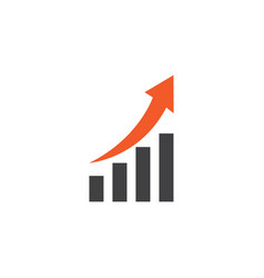 Growing chart flat icon symbol premium quality vector