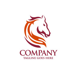 head horse logo template vector image