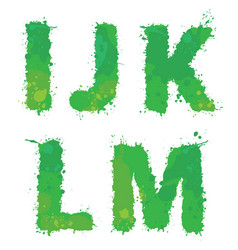 I j k l m handdrawn english alphabet - vector