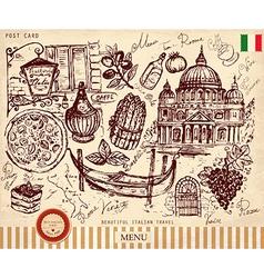 Italy postcard vector image