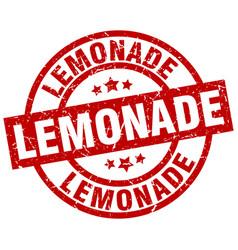 Lemonade round red grunge stamp vector