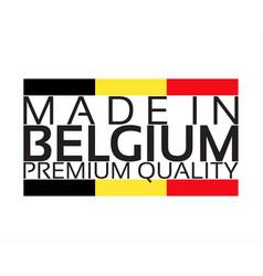 made in belgium icon premium quality sticker vector image