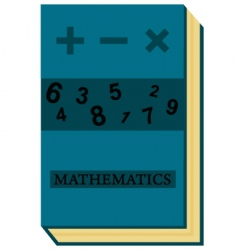 mathematics book vector image vector image