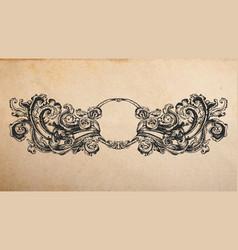 renaissance ancient vignette vector image