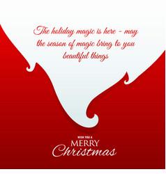 Santa claus beard with message for chrismas vector