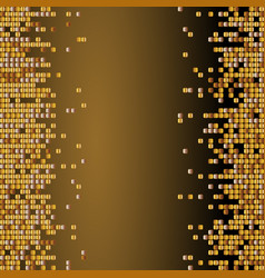 shiny background with golden sequins vector image vector image