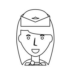 Stewardess profile cartoon vector