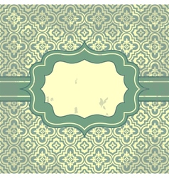 vintage pattern and frame for design vector image