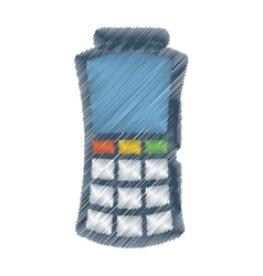 Voucher machine isolated icon vector