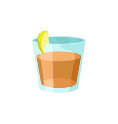Whiskey with lemon cartoon vector