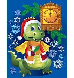 New Years dragon vector image