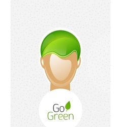 Eco green man concept vector image