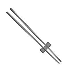 Wooden chopsticks in black design vector