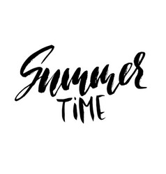 Summer time hand drawn lettering vector