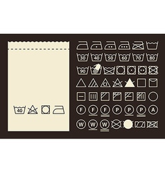 Textile label and washing symbols vector