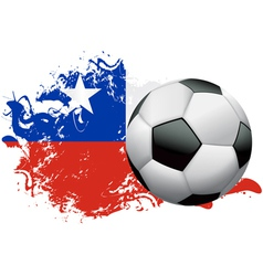 Chile Soccer Grunge vector image