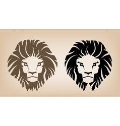 Lion head icons vector