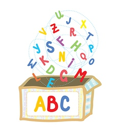 Abc box funny concept of education vector
