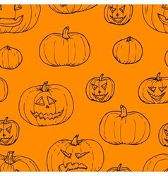 Festive decoration pumpkins vector