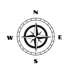 Compass sketch vector