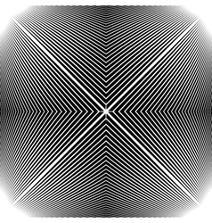 Design monochrome stripy geometric background vector